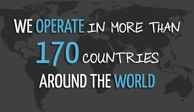 130 countries around the world